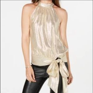 Trina Turk Gold shimmer top